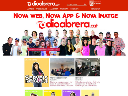 Captura nova web Radio Abrera